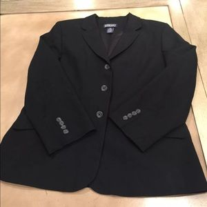 Land's End Black Blazer Jacket Size 10P